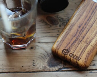 OXSY Apple iPhone 8 | Zebrawood Genuine Solid Wooden Phone Case | Wood Cover | Gift Idea