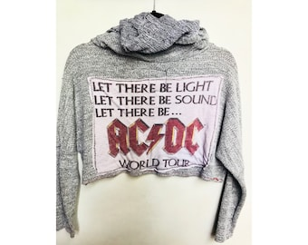 ACDC Let There Be Light Crop Hoodie - Size S/M