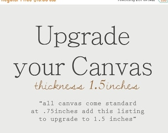 FLASH SALE til MIDNIGHT Canvas Frame Thickness Upgrade