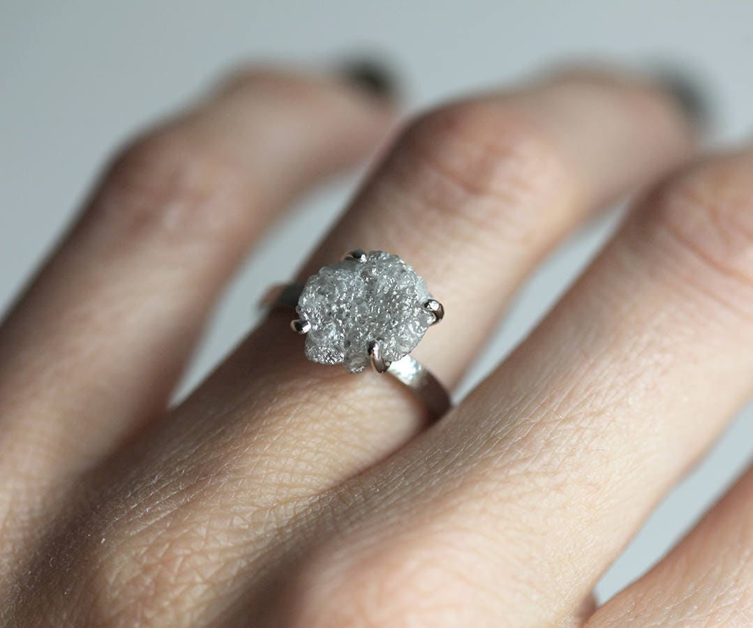 raw rings diamond cluster store ring rough