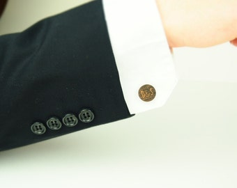 Custom Engraved Wooden Cufflinks, Groomsmen Gift, Father of the Bride Gift