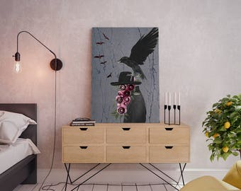 Wall art collage canvas print image - Hat