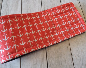 Dog Belly Band, Anchors in Red Fabric, Stop Marking with WeeWrap, Personalized