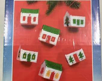 Holiday ornament set etsy needlepoint christmas ornament kit plastic canvas home for the holidays ornaments set do it yourself holiday ornaments solutioingenieria Gallery