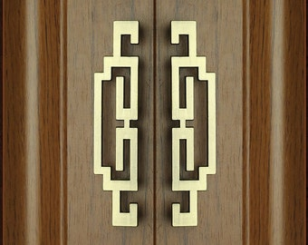 Pair Of Chinese Style Antique Pulls Knobs/Symmetry Door Handles Drawer Pulls  Handles/ Kitchen