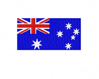 AUSTRALIAN FLAG ~ Australians all let us rejoice! ~ Filled Machine Embroidery Design in 2 sizes ~ Instant Download - Australia Day