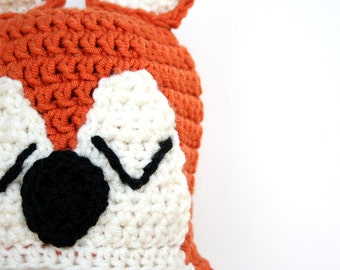 Crochet fox hat, knit fox hat, fox costume, crochet animal hat, animal costume, halloween costume, orange and black, 5t to adult sizes