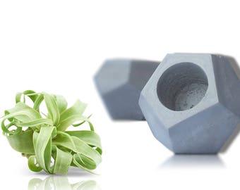 Handmade Concrete Planter For Air Plant or Succulent, Concrete Pot, Succulent Planter, Planter, Home Decor