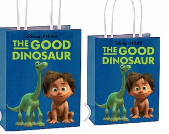 Shipping for party bags is now available see description)The good dinosaur Party Favor Bag Printable Instant Download