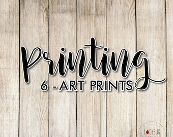 6 Professionally Printed Wall Art Prints, Choice of 5x7 inch or 8x10 inch