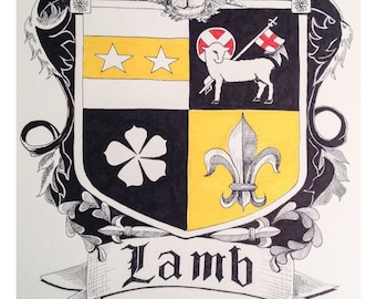 Custom family name coat of arms