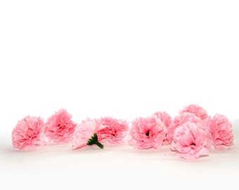 Baby Pink Carnations - 10 count - Artificial Flowers