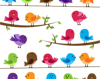Birds Clipart Clip Art - Commercial and Personal Use
