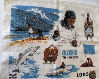 1985 Alaska Linen Tea Towel Calendar
