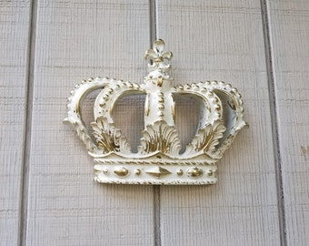 Heirloom Gold Crown Wall Decor Nursery Decor Crib Crown Canopy Wall Decor  Ornate Crown Fleur De