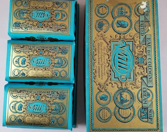 Three Vintage Bars of 4711 Soap in Original Box 1960s