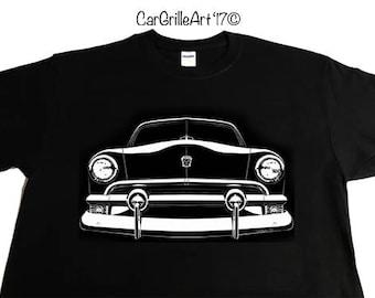 1951 Ford Victoria, Custom, Club, Tudor Sedan, Fordor Sedan, Country Squire, Station Wagon, Convertible, Club Coupe, V8  T-Shirt, Tee-Shirt