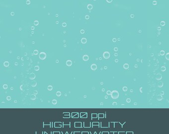 Buy 3 get one free. 10 X Underwater Bubble Brushes for Photoshop, High Quality 300ppi, Instant Download.