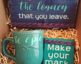 Be Epic // inspirational gift, best friend gift, motivational gift, personalized gift, care package, new job gift, birthday gift, gift box