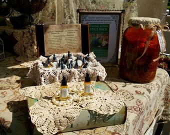 Sandalwood, Rose & Patchouli Perfume Oil - .25 oz Glass Dropper Bottle top - Reiki Infused