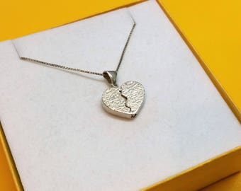 Pendant 925 Silver heart seni Nezha ICH love you rar SK1160