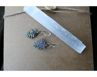 """Sterling Silver Cedar Branch Earrings- """"Thrive"""""""