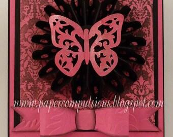 Butterfly Rosette Card Cut Files