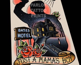 Bates Motel Tattoo Flash 11x17