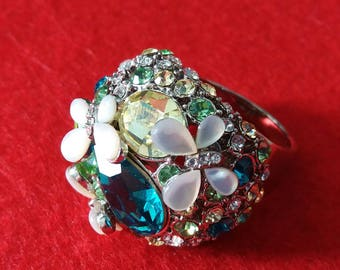 SALE! Amazing butterflies ring (sz18)