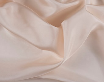 "45"" Wide 100% Silk Habotai Vanilla-Wholesale by the Yard (2000M111)"
