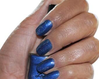 Vibranium Blue Holographic Nail Polish
