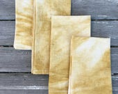 Hand dyed cotton napkins ...