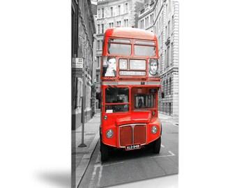 London City Big Red Bus Canvas Print 50 cm x 76 cm