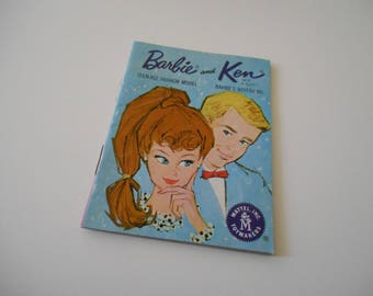 Barbie Teen-age Fashion Model and Ken Barbie's Boy Friend (blue cover) Phamplet/Booklet/Catalog