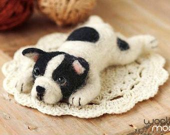 Miniature French Bulldog Needle Felting Kit