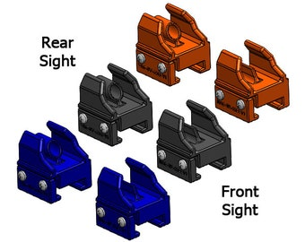 Bolt-On Trans Iron Sights for Nerf® Gun