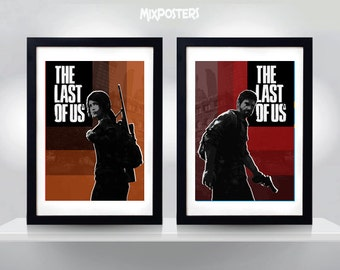 The LAST of US, Ellie & Joel, Wall Art Print Game Double Poster (selectable size)