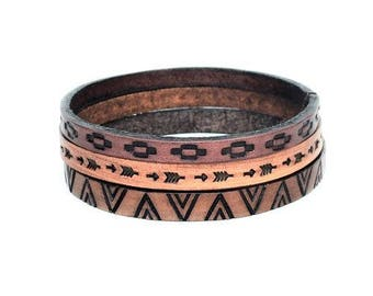Leather Bangles, Leather Cuffs, Leather jewelry, jewelry