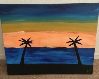 CALIFORNIA SUNSET Painting