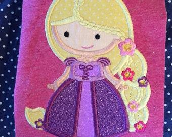 Aurora or Rapunzel princess shirt/onesie