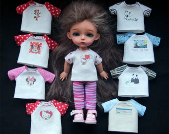 T-shirts for Lati Yellow, Pukifee, Irrealdoll, Luts tiny DELF, Aquariusdoll bjd doll outfit dress clothes #2