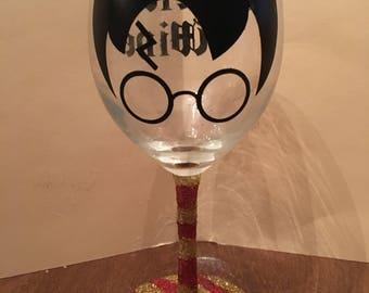 Custom Wine Glass (Harry Potter inspired)