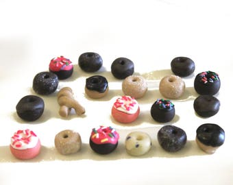 20 Donut tokens for board games, Police Precinct Accessory, Food Tokens, Breakfast Pastries, Miniature food, tabletop game pieces