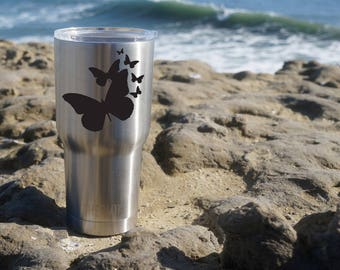 Yeti Cup Decal, Butterflies Decal, Yeti Decal, Yeti Cup Butterflies Decal, Yeti Sticker, Yeti Cup, Personalized Decal, Butterflies