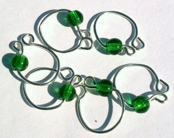 Emerald green removeable stitch markers