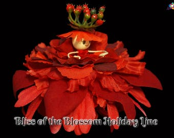 Bliss of the Blossom Holiday Line, Fairy, Faerie, OOAK, Doll