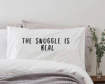 The snuggle is read - Fullsize Pillow