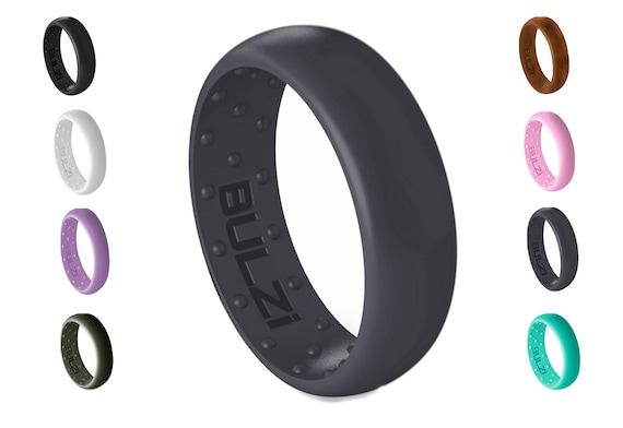 BULZi Massaging Comfort Fit Silicone Wedding Ring 6mm 1