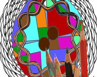 Mandala 008, coloring page
