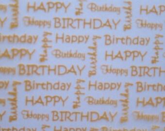 Happy Birthday Transfer Sheet